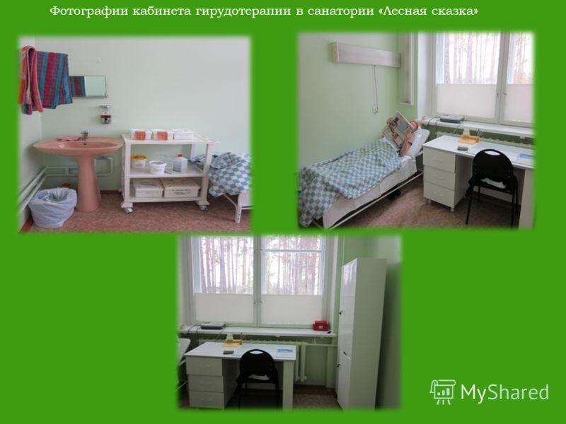 Фотографии кабинета гирудотерапии в санатории «Лесная сказка»