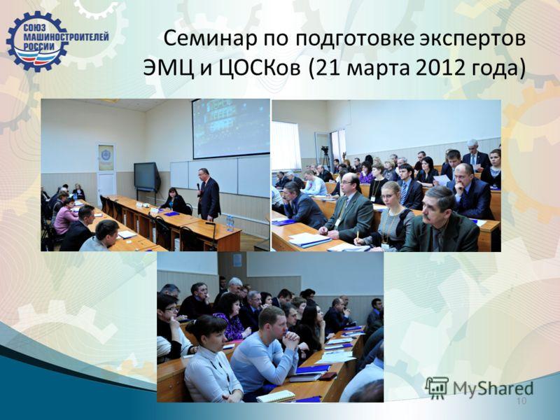 Семинар по подготовке экспертов ЭМЦ и ЦОСКов (21 марта 2012 года) 10