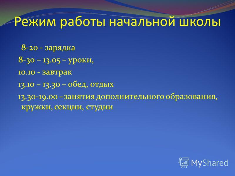 Режим работы школы Шестидневная учебная неделя Аттестация – через каждые 3 месяца (триместры) Каникулы По графику (через каждые 5-6 недель)