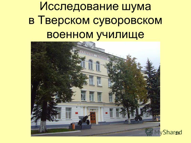 Исследование шума в Тверском суворовском военном училище 24