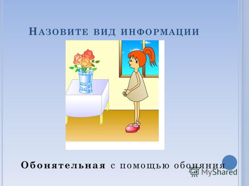 Н АЗОВИТЕ ВИД ИНФОРМАЦИИ Тактильная с помощью кожи (осязания)