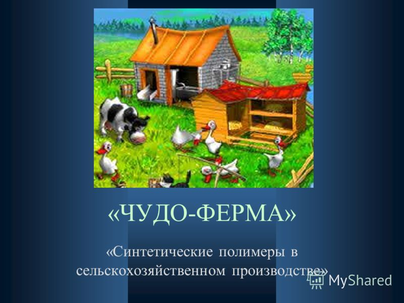 «ЧУДО-ФЕРМА» «Синтетические полимеры в сельскохозяйственном производстве»
