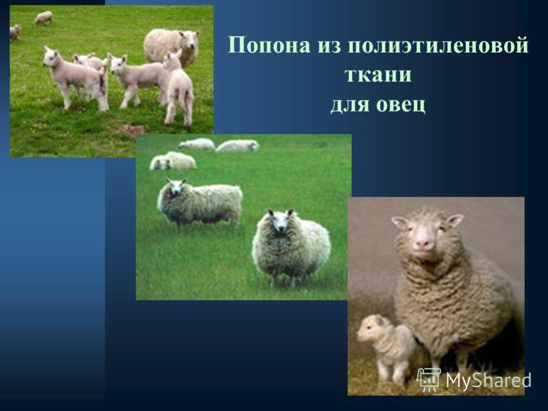 Попона из полиэтиленовой ткани для овец