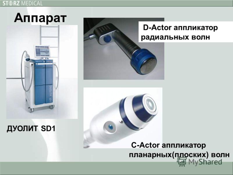 Аппарат ДУОЛИТ SD1 C-Actor аппликатор планарных(плоских) волн D-Actor аппликатор радиальных волн