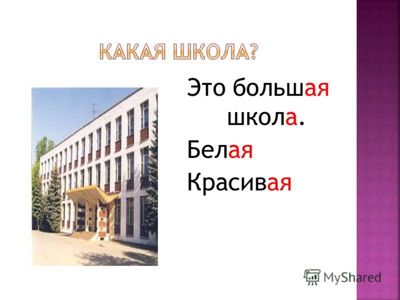 Это большая школа. Белая Красивая