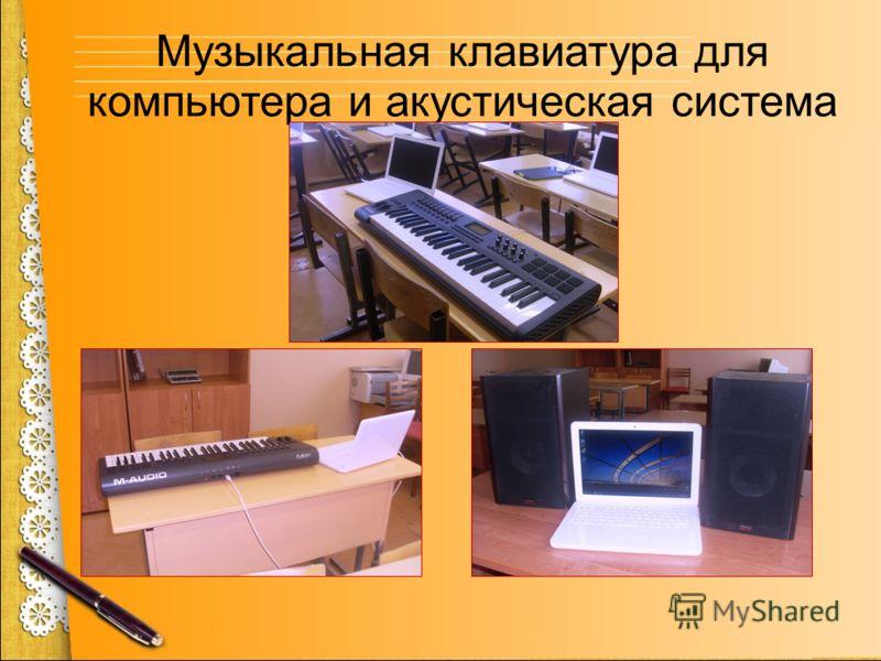 Музыкальная клавиатура для компьютера и акустическая система