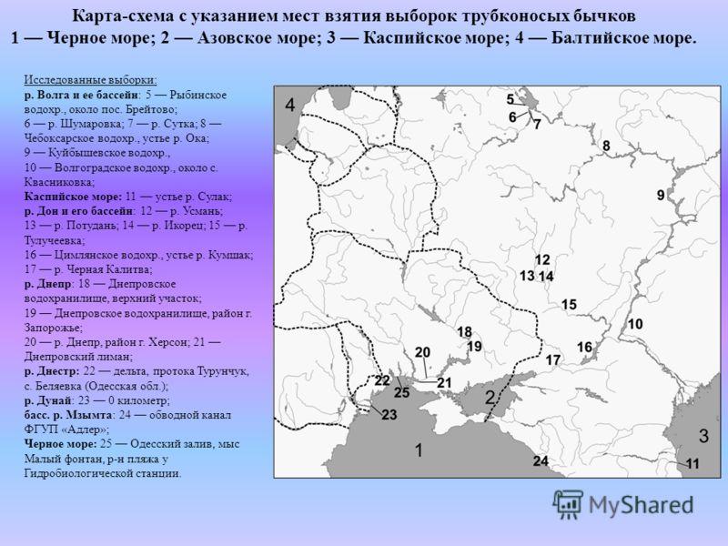 Карта-схема с указанием мест
