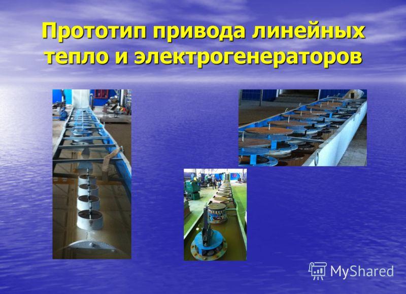 Прототип привода линейных тепло и электрогенераторов