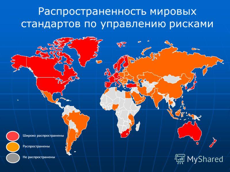 Manama Turkey U. A. E. China Hong Kong India Распространенность мировых стандартов по управлению рисками Широко распространены Распространены Не распространены