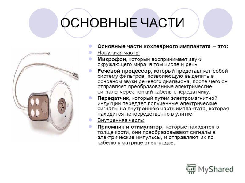 кохлеарного имплантата