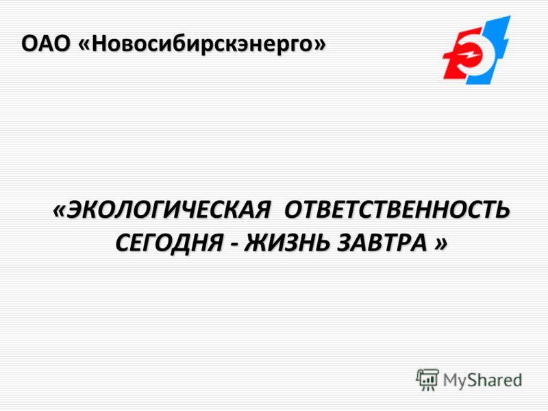 «ЭКОЛОГИЧЕСКАЯ ОТВЕТСТВЕННОСТЬ СЕГОДНЯ - ЖИЗНЬ ЗАВТРА » «ЭКОЛОГИЧЕСКАЯ ОТВЕТСТВЕННОСТЬ СЕГОДНЯ - ЖИЗНЬ ЗАВТРА » ОАО «Новосибирскэнерго»
