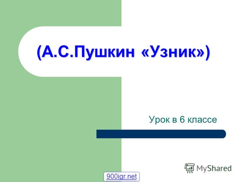 (А.С.Пушкин «Узник») 900igr.net Урок в 6 классе