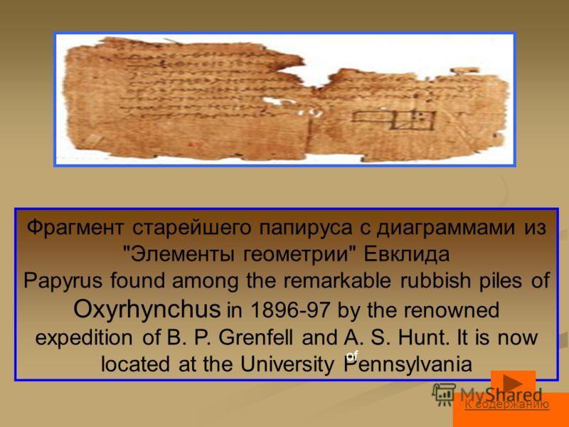 Фрагмент старейшего папируса с диаграммами из