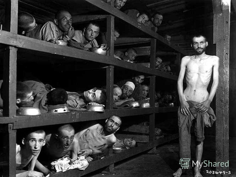 Нечеловеческие условия существования, голод, непосильный труд, побои привели к массовой смертности. Около 10 000 заключённых было казнено, в том числе почти 8,5 тыс. советских военнопленных. Всего в Бухенвальде замучено 56 000 заключённых 18 национал