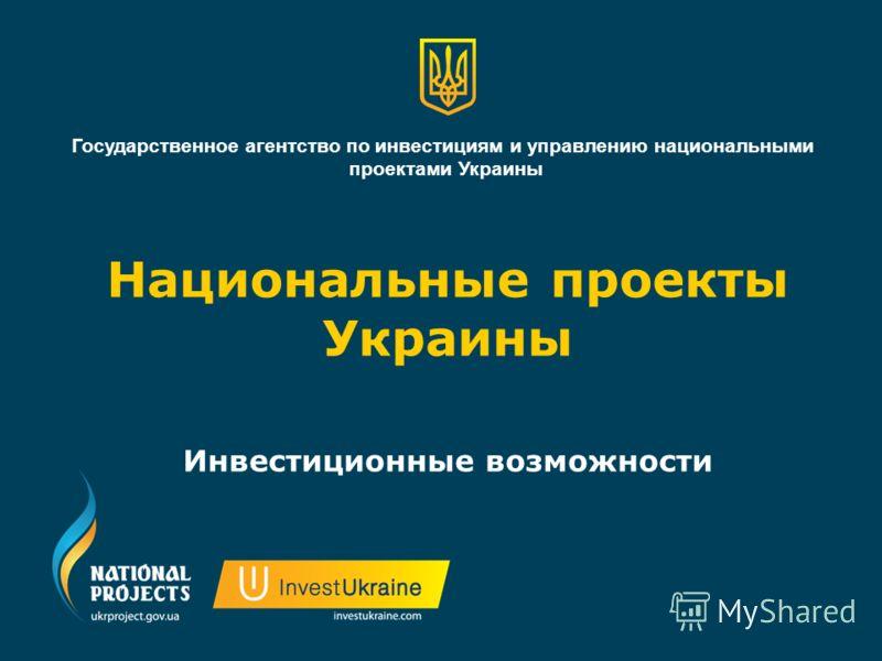 Национальные проекты Украины Инвестиционные возможности Государственное агентство по инвестициям и управлению национальными проектами Украины