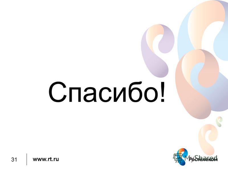 www.rt.ru Спасибо! 31