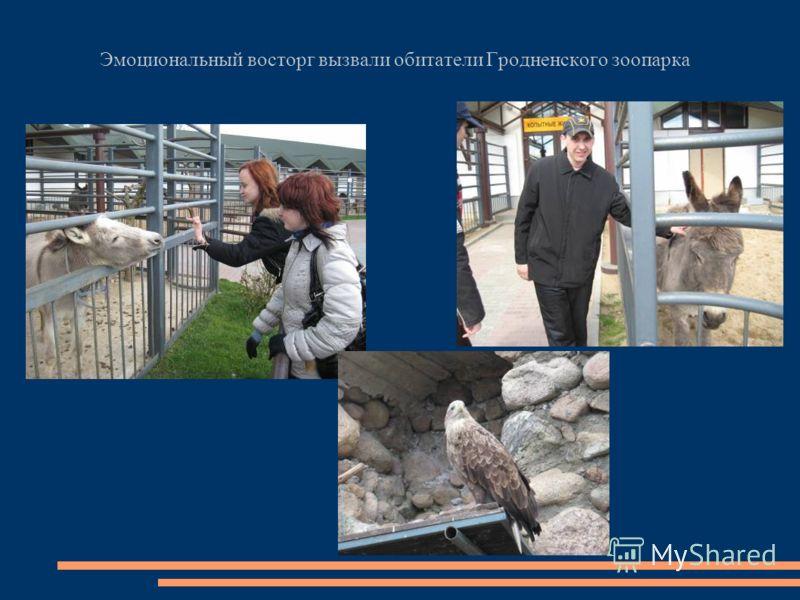 Эмоциональный восторг вызвали обитатели Гродненского зоопарка