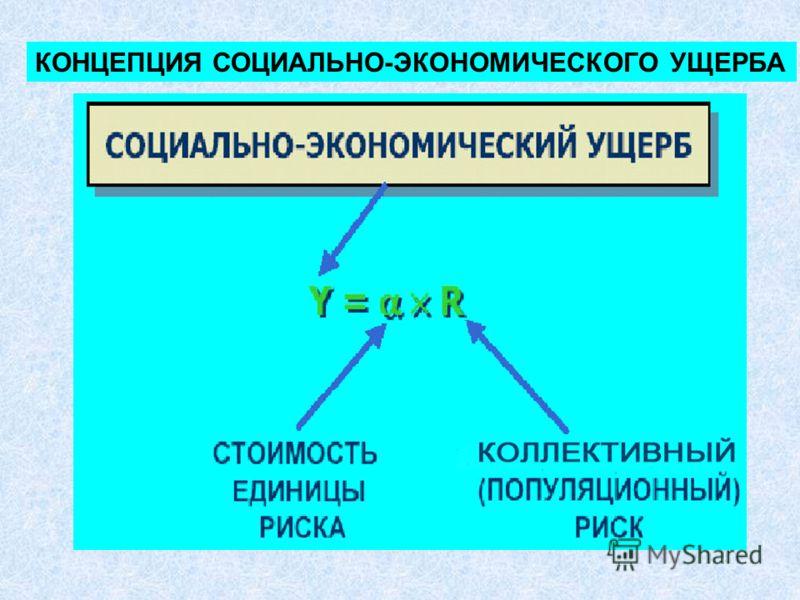 КОНЦЕПЦИЯ СОЦИАЛЬНО-ЭКОНОМИЧЕСКОГО УЩЕРБА