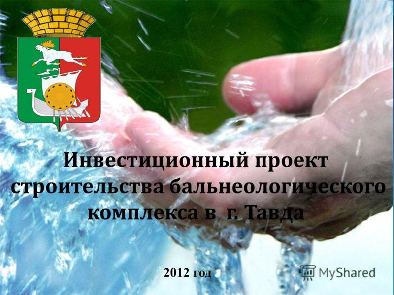 Инвестиционный проект строительства бальнеологического комплекса в г. Тавда 2012 год