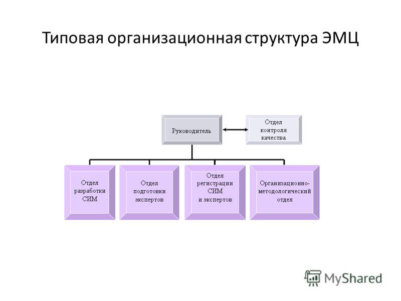 Типовая организационная структура ЭМЦ