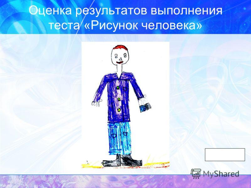 Оценка результатов выполнения теста «Рисунок человека»