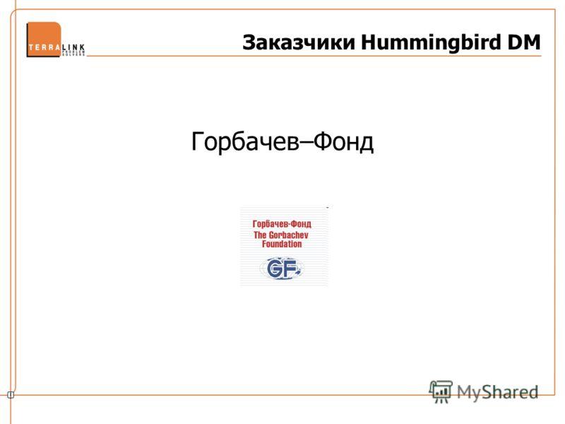 Заказчики Hummingbird DM Горбачев–Фонд