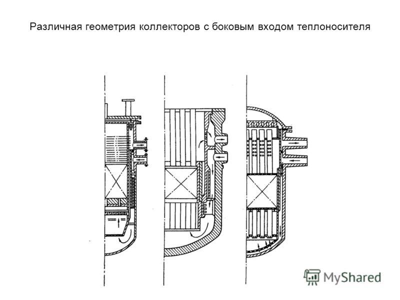 Различная геометрия коллекторов с боковым входом теплоносителя