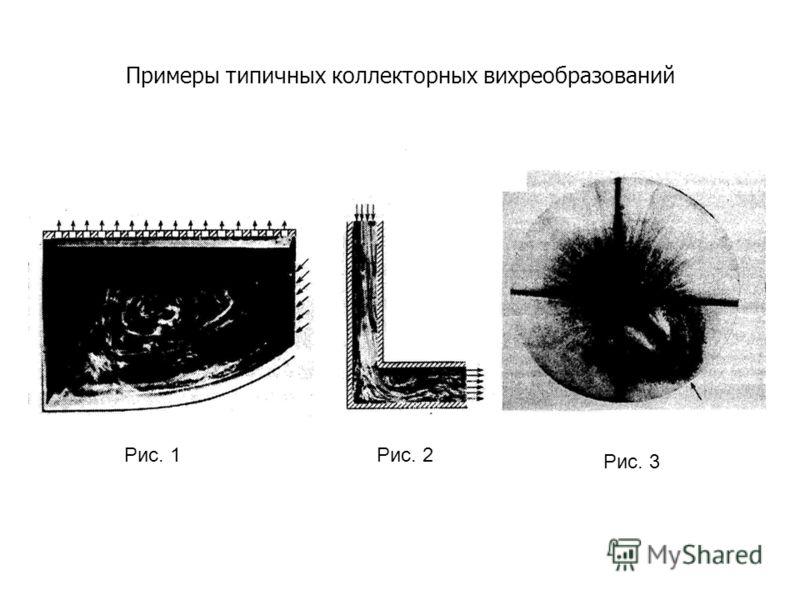 Примеры типичных коллекторных вихреобразований Рис. 1Рис. 2 Рис. 3