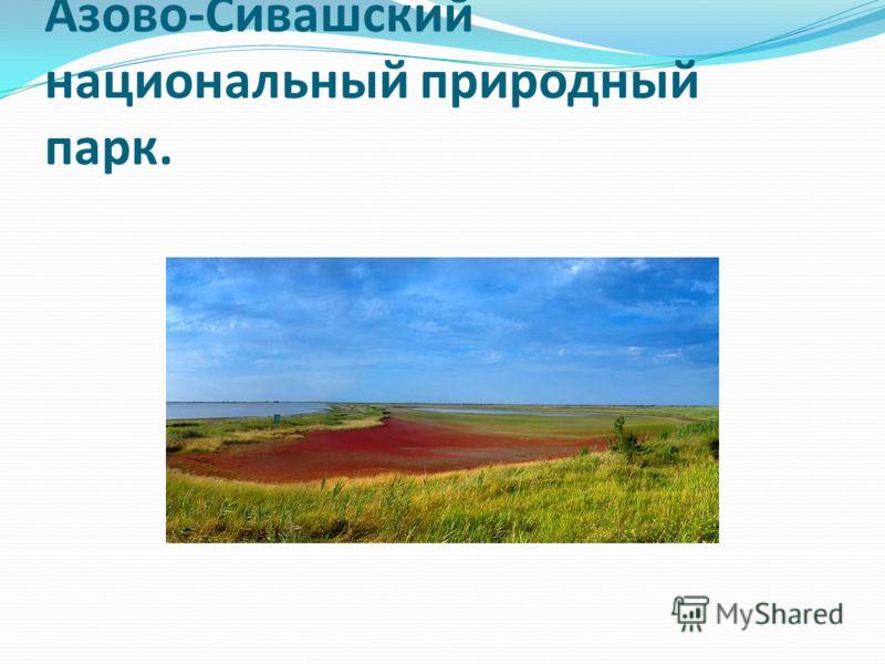 Азово-Сивашский национальный природный парк.