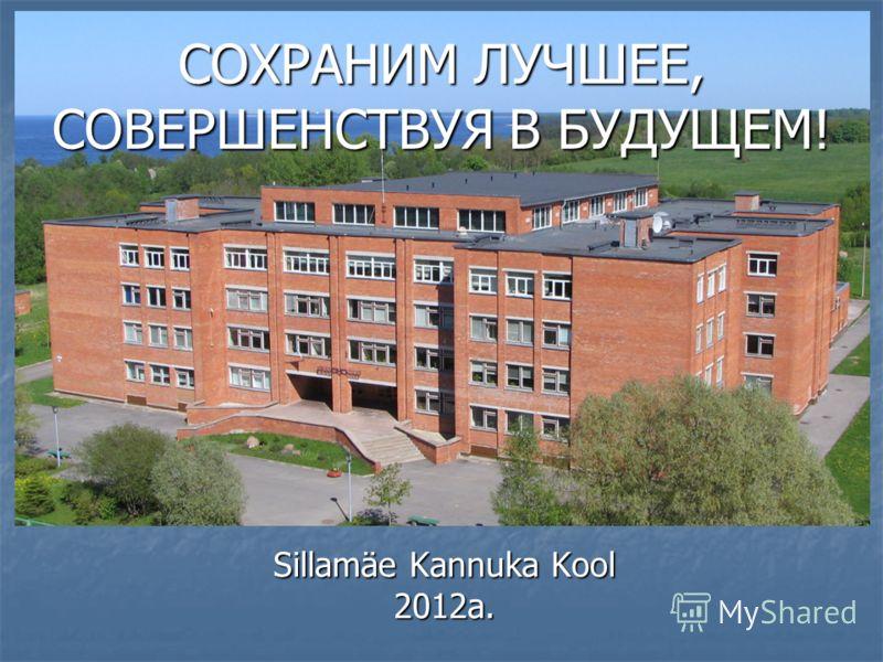 СОХРАНИМ ЛУЧШЕЕ, СОВЕРШЕНСТВУЯ В БУДУЩЕМ! Sillamäe Kannuka Kool 2012a.