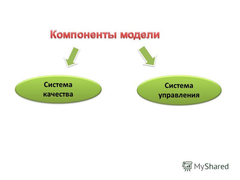 Система качества Система управления