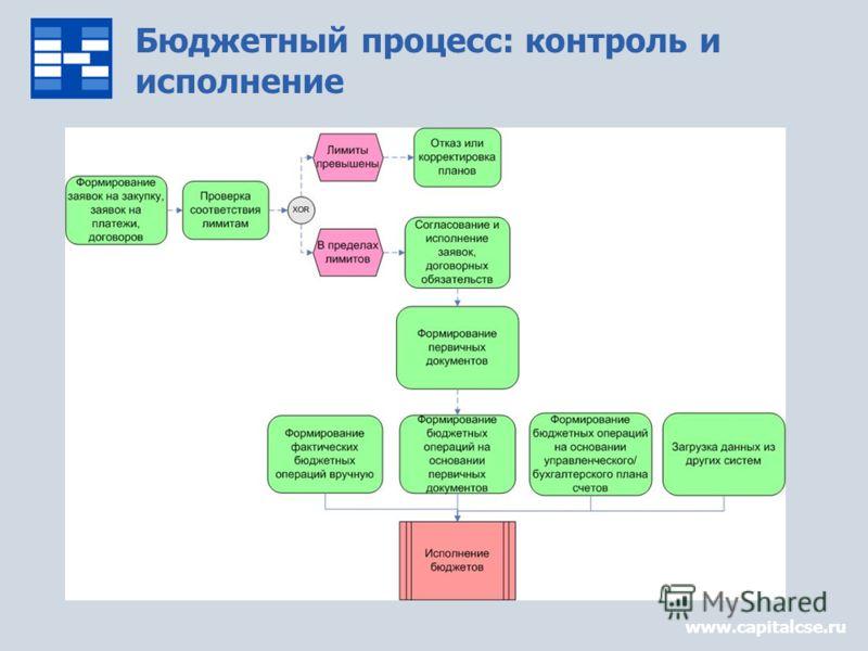 Бюджетный процесс: контроль и исполнение www.capitalcse.ru