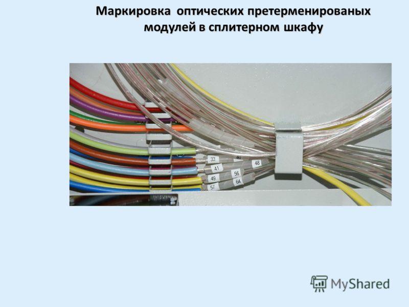 Монтаж оптического претерменированого модуля в сплитерном шкафу