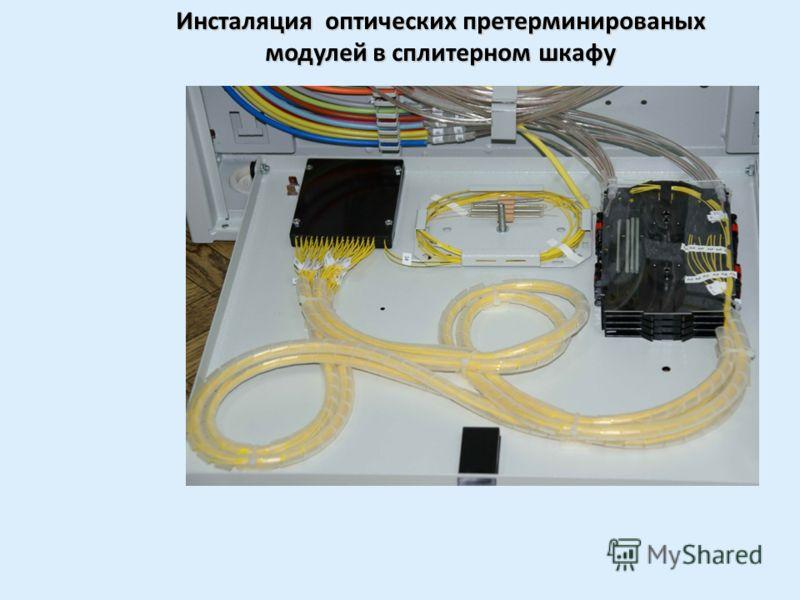 Маркировка оптических претерменированых модулей в сплитерном шкафу