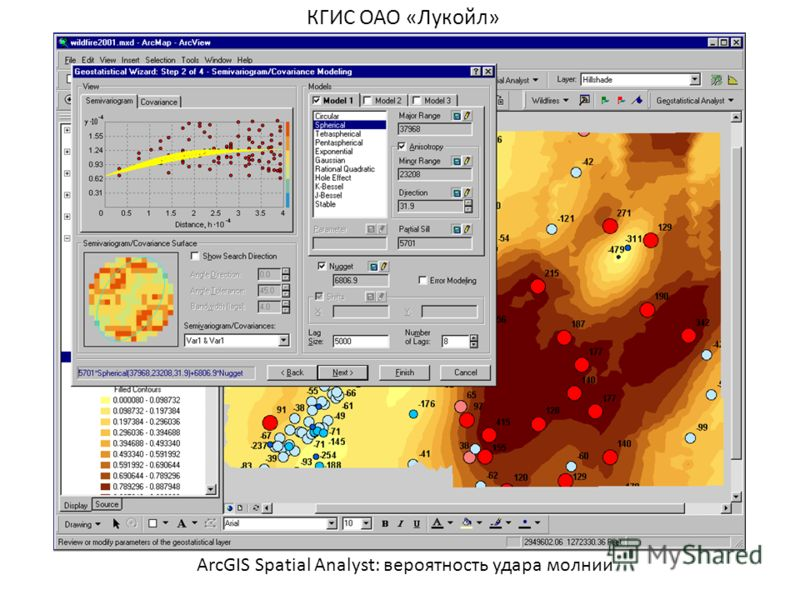 ArcGIS Spatial Analyst: вероятность удара молнии