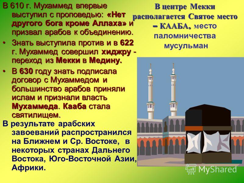 ИСЛАМ ИСЛАМ Его основатель - Мухаммед родился ок.570 года в бедном роде. Мухаммеду явился ангел Джабраил и донес ему божественное откровение о том, что он пророк. Его основатель - Мухаммед родился ок.570 года в бедном роде. Мухаммеду явился ангел Джа