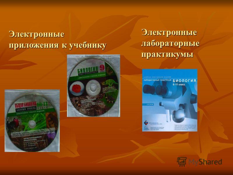 Электронные лабораторные практикумы Электронные лабораторные практикумы Электронные приложения к учебнику