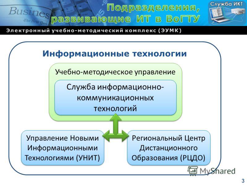 Информационные технологии Управление Новыми Информационными Технологиями (УНИТ) Управление Новыми Информационными Технологиями (УНИТ) Региональный Центр Дистанционного Образования (РЦДО) Региональный Центр Дистанционного Образования (РЦДО) Учебно-мет