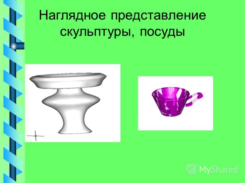 Наглядное представление скульптуры, посуды