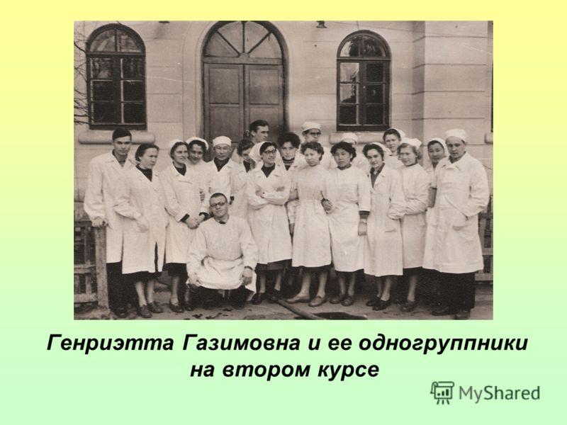 Генриэтта Газимовна и ее одногруппники на втором курсе