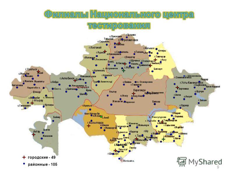 городские - 49 районные - 105 9