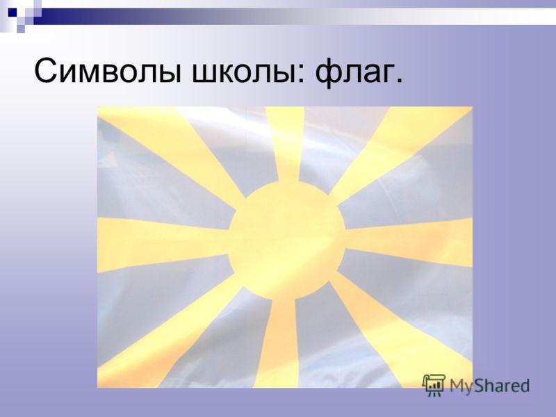 Символы школы: флаг.