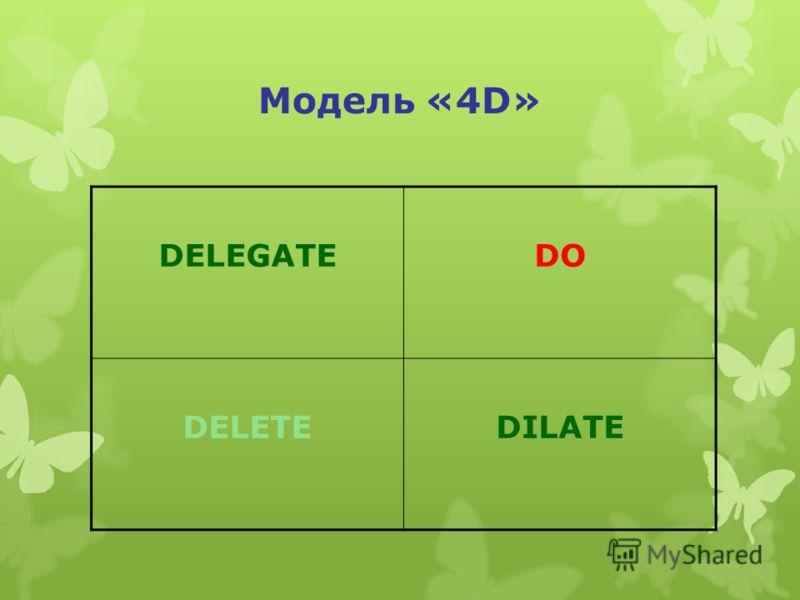 Модель «4D» DELEGATEDO DELETEDILATE
