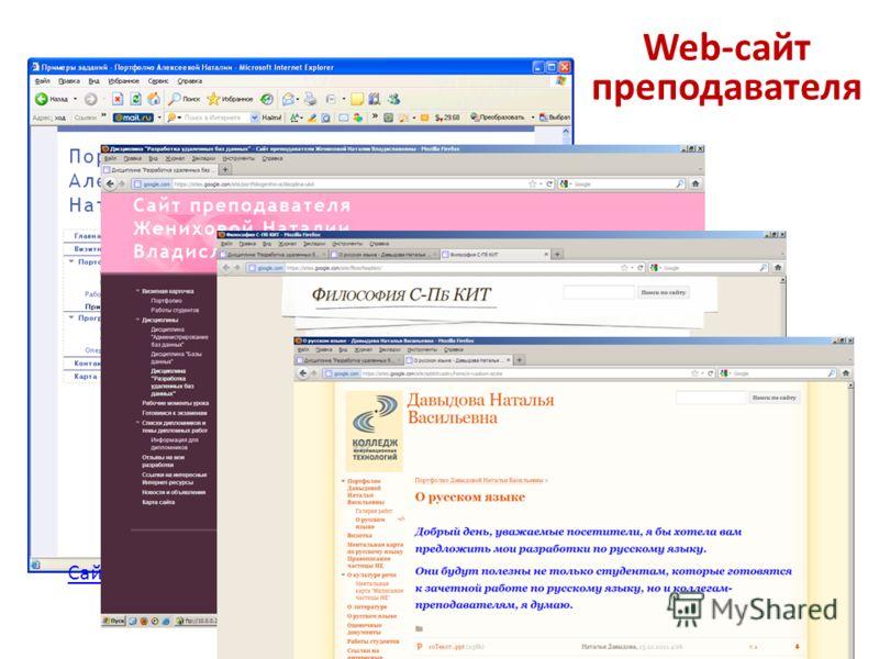 Web-сайт преподавателя Сайт