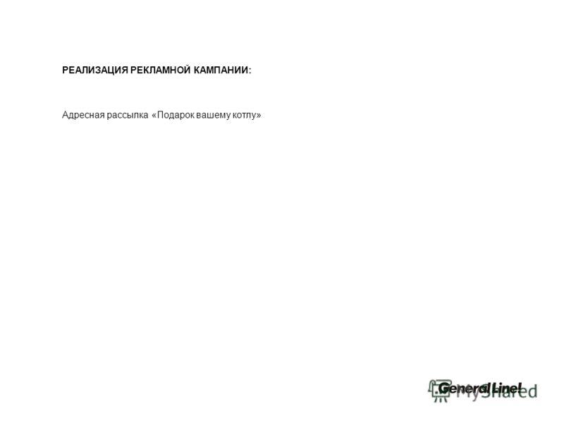 РЕАЛИЗАЦИЯ РЕКЛАМНОЙ КАМПАНИИ: Адресная рассылка «Подарок вашему котлу»