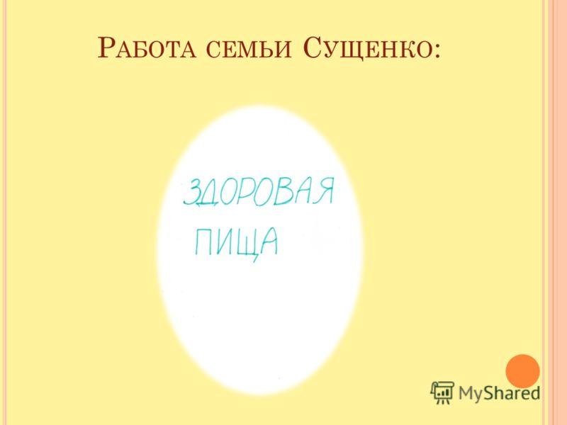 Р АБОТА СЕМЬИ С УЩЕНКО :