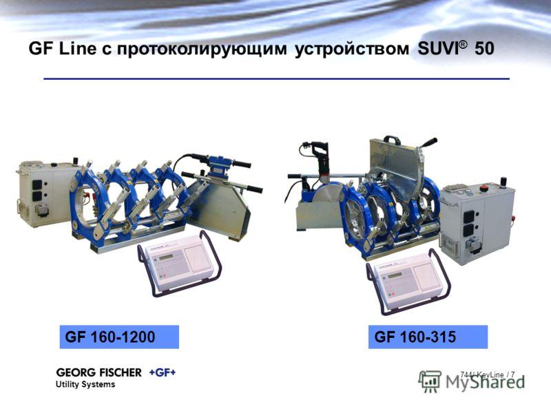 Utility Systems 744/ KeyLine / 7 GF Line с протоколирующим устройством SUVI ® 50 GF 160-315GF 160-1200