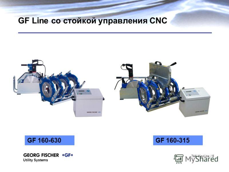 Utility Systems 744/ KeyLine / 8 GF Line со стойкой управления CNC GF 160-630GF 160-315