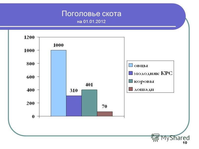 10 Поголовье скота на 01.01.2012