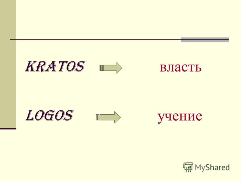 kratos власть logos учение